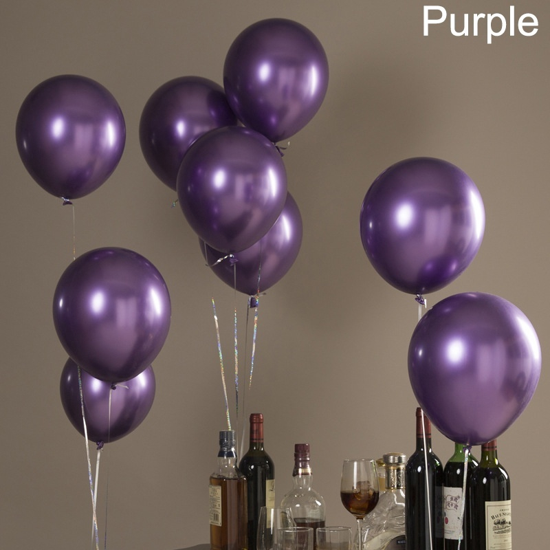"""12/"""" Metal Color Latex Thickening Balloons Wedding Birthday Party Festival Decor"""