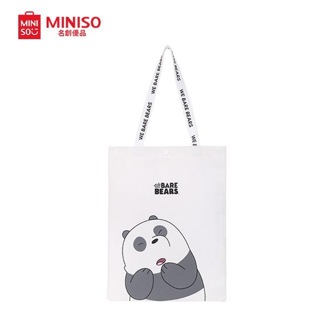 3d87eb5909 Miniso We Bare Bears Glass Water Bottle (300ml) | Shopee Singapore
