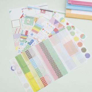 100Pcs Calendar Scrapbook Album Diary Book Decor Planner Paper Label Sticker