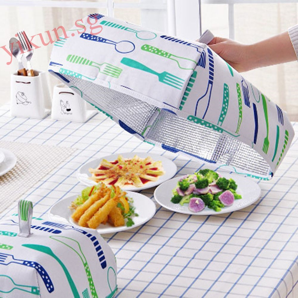 Temperate 1pc Round Food Cover Green Plastic Dish Table Cover Kitchen Fly-proof Umbrella Dish Food Cover Kitchen Supplies Food Covers