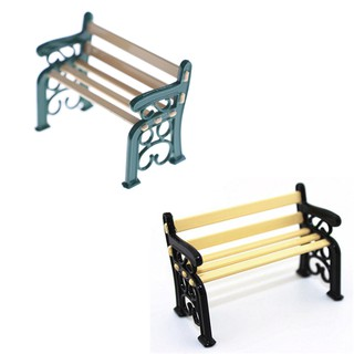 Metal Wooden Bench Chair Dollhouse Miniature 1:12 Scale Fairy Doll Home Scene ♫