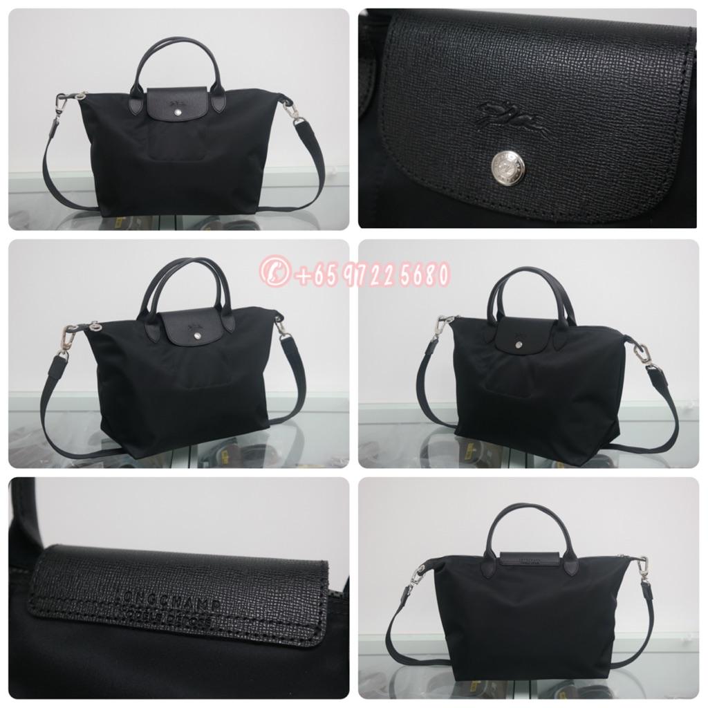 d41238c7e1e9 SALE Longchamp Le Pliage Neo Long Handle Large Black 1899 578 001 ...