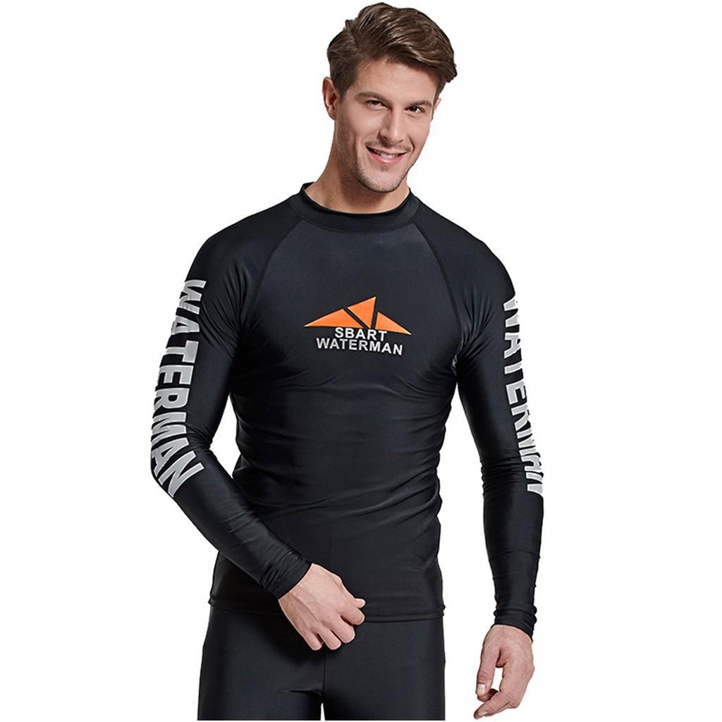 2623dd7b81 Long Sleeve Rashguard For Men Surf Tops Swimsuit Rash Guard Swim Shirt |  Shopee Singapore