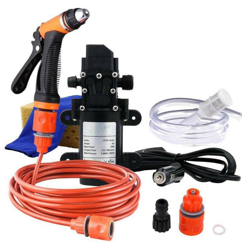 60W 12V Electric Car Washer Wash Water Pump Gun High Auto Kit Pressure Switch !