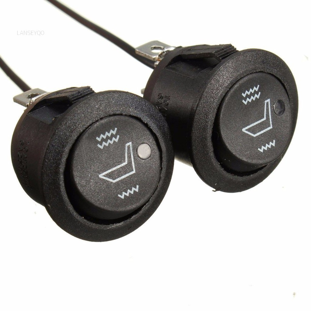 2Pcs Car Seat Heater Switch 3 Pin Round Heated Rocker Hi Low Off Control Heated Seat Switch