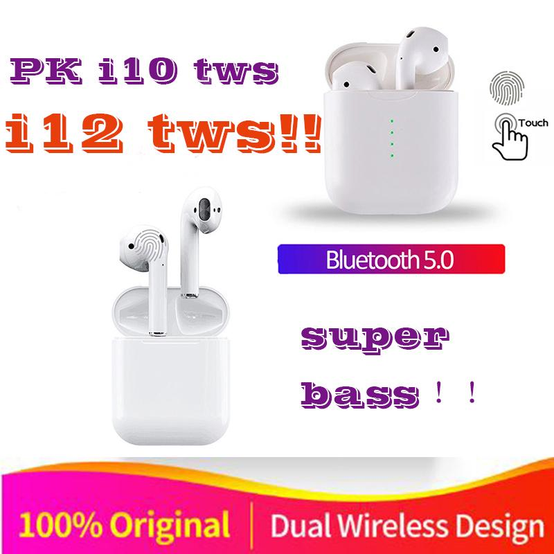 Bluetooth Earphones i12 TWS Wireless Stereo Bass Earbud With