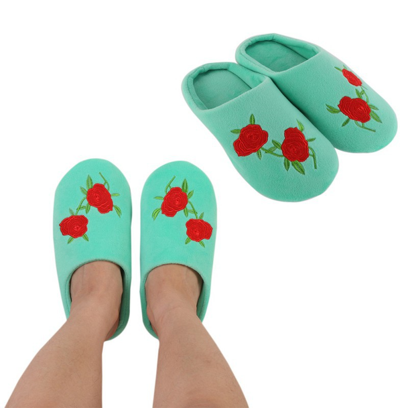 SED Slippers Coral Velvet Winter Cartoon Warm Floor Drag Home Female Slippers Home Cotton Shoes