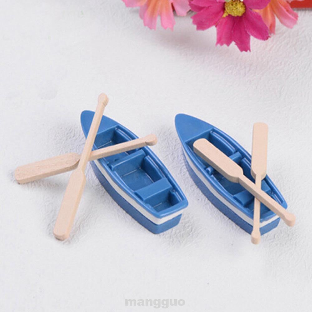 3 Pc //Set miniatures lovely cute fairy garden gnome moss terrarium boat and oar