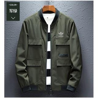 adidas clover coat cargo stand collar jacket sport