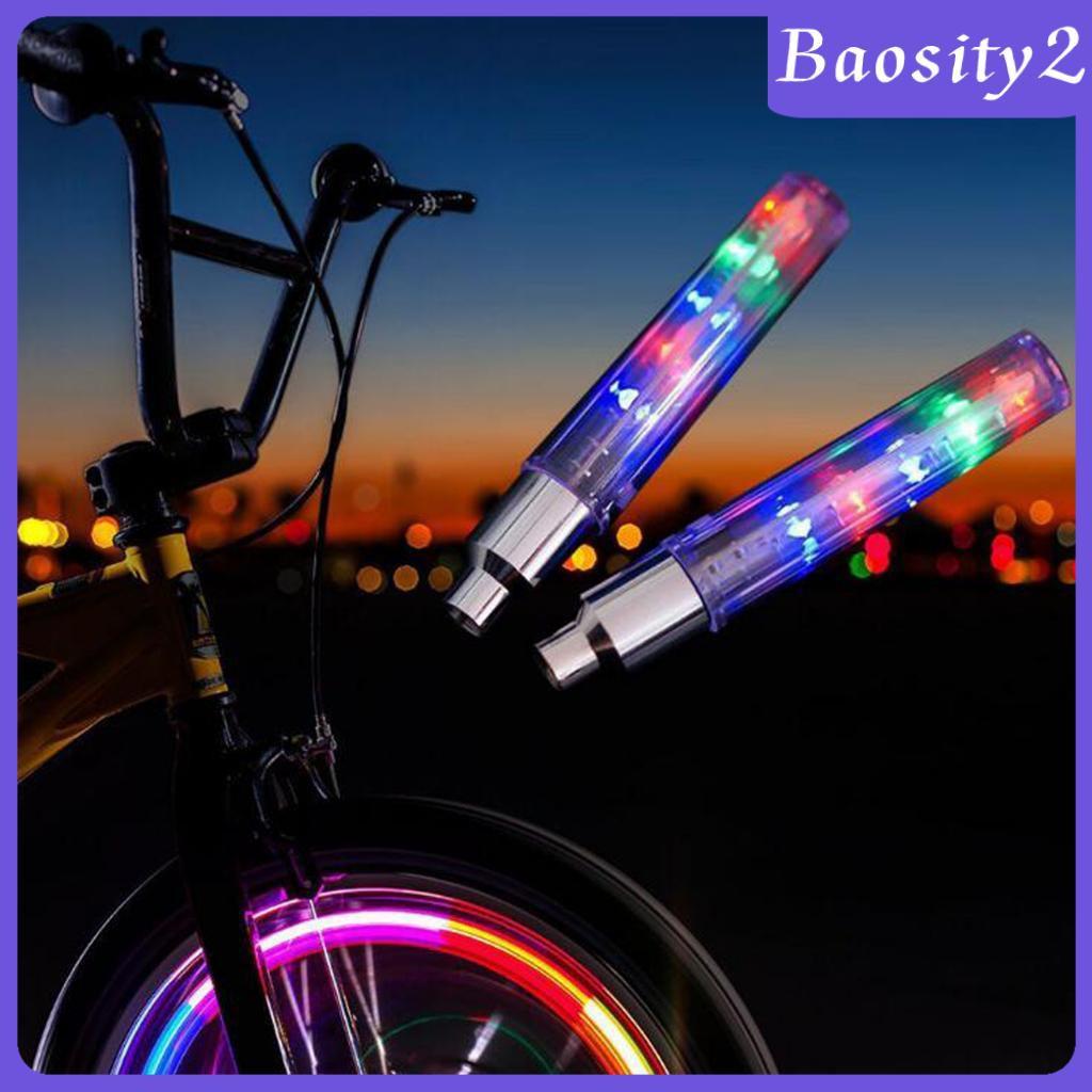 Valve Stem LED Flashing Light Bike Bicycle Car Motorcycle Wheel Tire Lamp