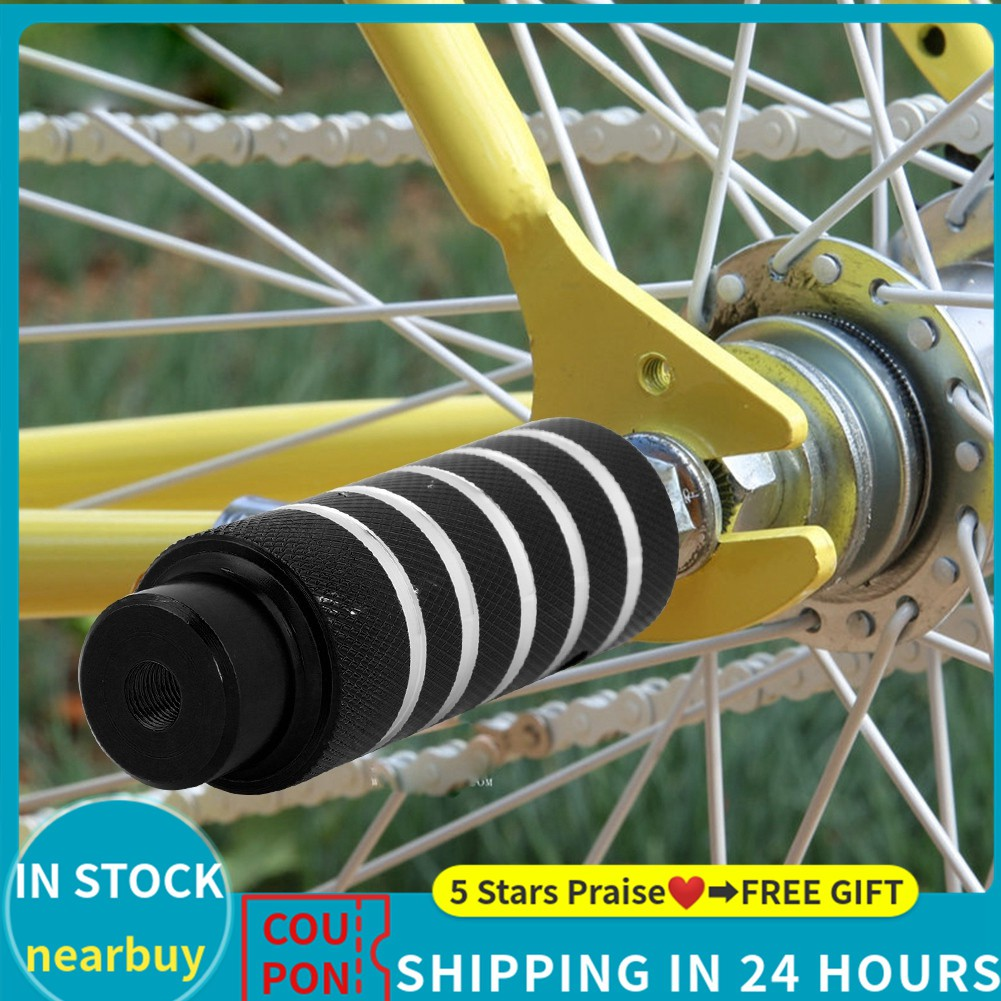 Universal Folding Meta Foot Stand Pegs Rider Bicycle Heavy Duty Foot Rest Peg
