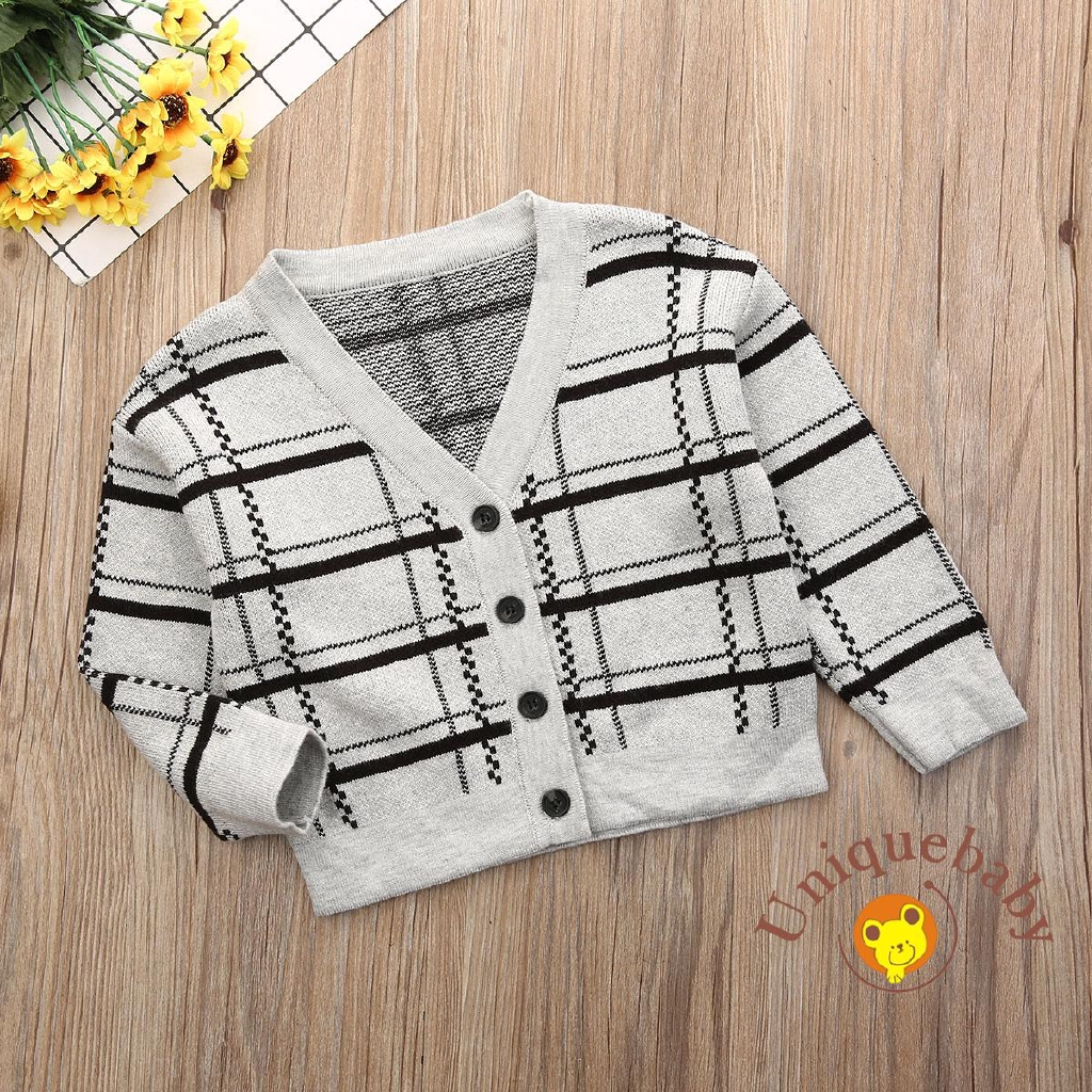 Toddler Kids Baby Boy Girl Knitted Sweater Cardigan Coat Long Sleeve Top Outwear
