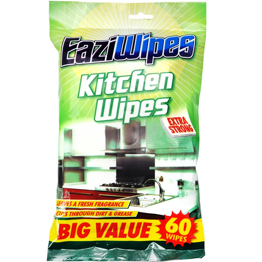 Kitchen Cleaning Wipes: Kitchen Cleaning Wet Wipes EAZIWIPES KITCHEN WIPES 60pcs