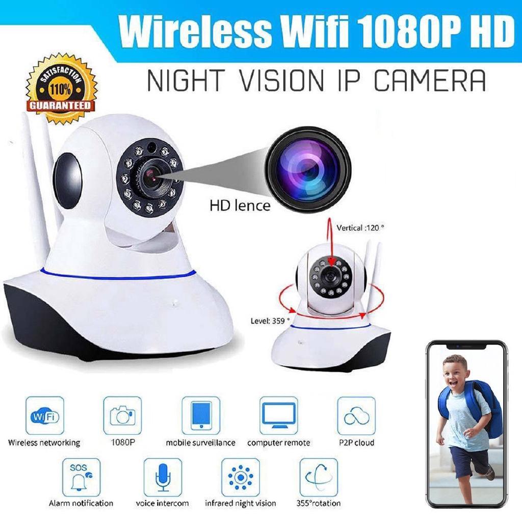 Home Security IP Camera 1080P Waterproof 200W Indoor Wireless Security IP  Camera