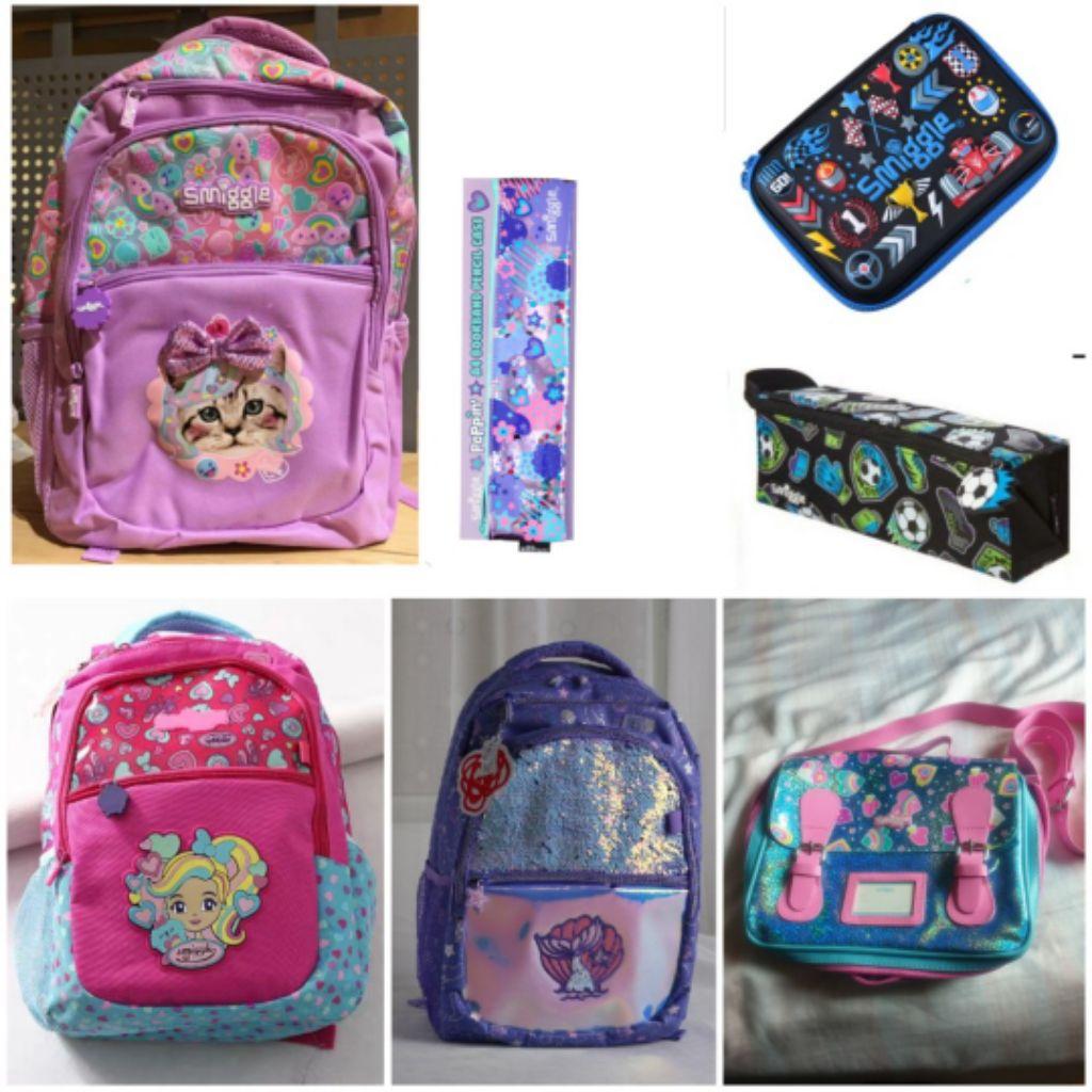 🆕️ Smiggle Australia backpack Pencil case Book-band Lunch bag