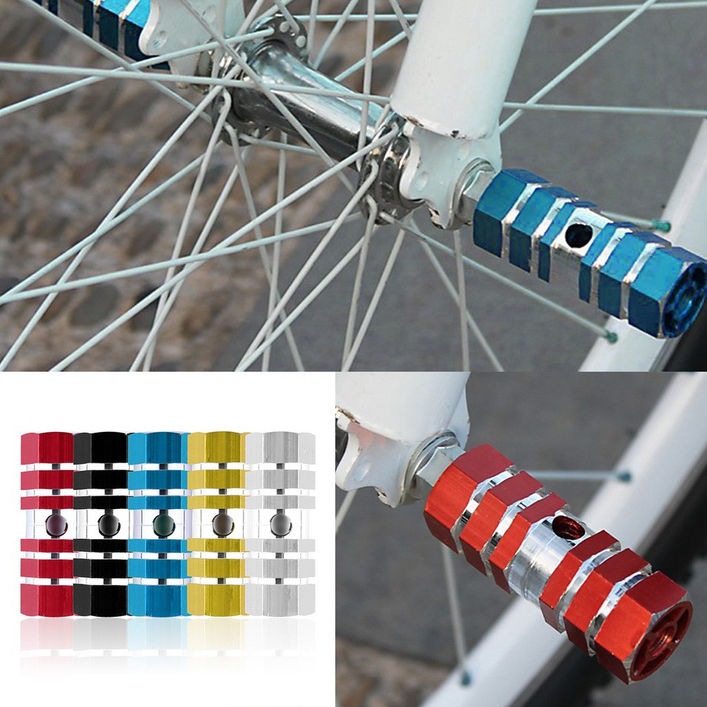 HO/_ 1 Pc Cycling Bike Bicycle Cylinder Aluminum Alloy Axle Foot Peg Balance Bar