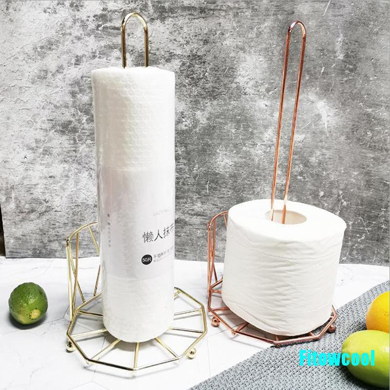 Fcsg Kitchen Roll Paper Towel Holder Bathroom Tissue Toilet Paper Stand Napkins Rack Cool Shopee Singapore