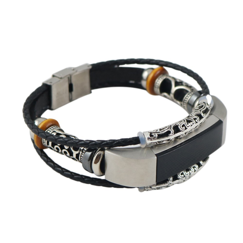 Replacement Leather Wristband Band Strap Bracelet For Fitbit Alta/Fitbit Alta HR | Shopee Singapore