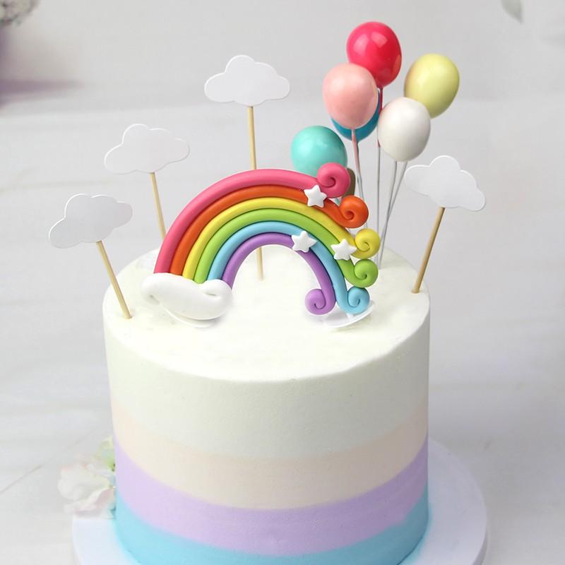 Tremendous Rainbow Cake Topper Set Cake Decorations Shopee Singapore Personalised Birthday Cards Xaembasilily Jamesorg