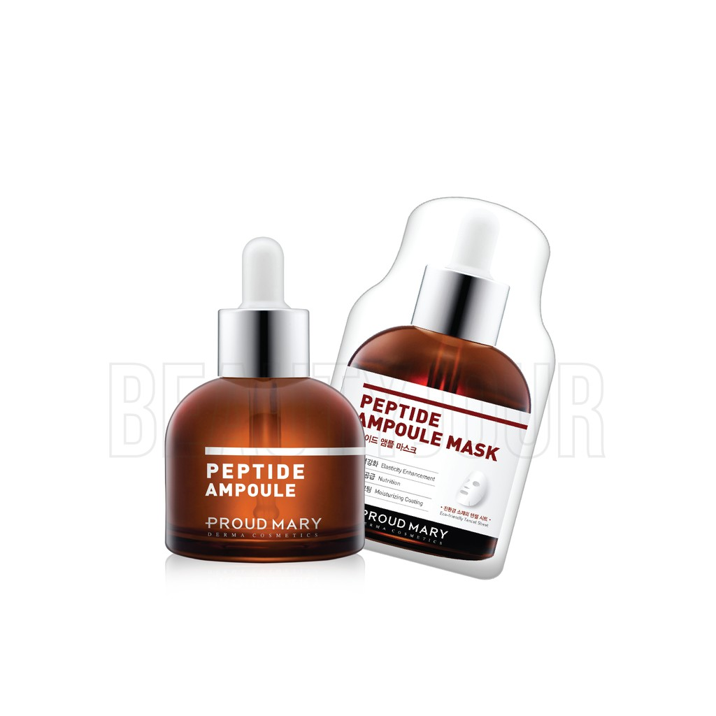 {Korea Skin Care} Proud Mary Peptide Ampoule 20ml + Peptide Ampoule Mask 5  Sheet