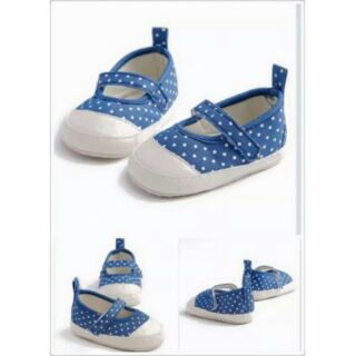 PREWALKER POLKADOT (BLUE)/BABY GIRL SHOES/KASUT BABY/MURAH ...