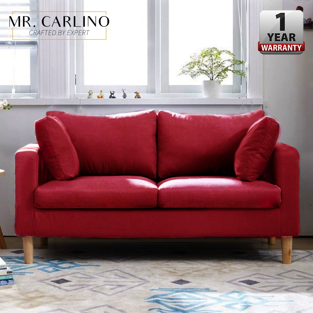Dolores Living Room 3 Seater Sofa Wooden Leg Shopee Singapore