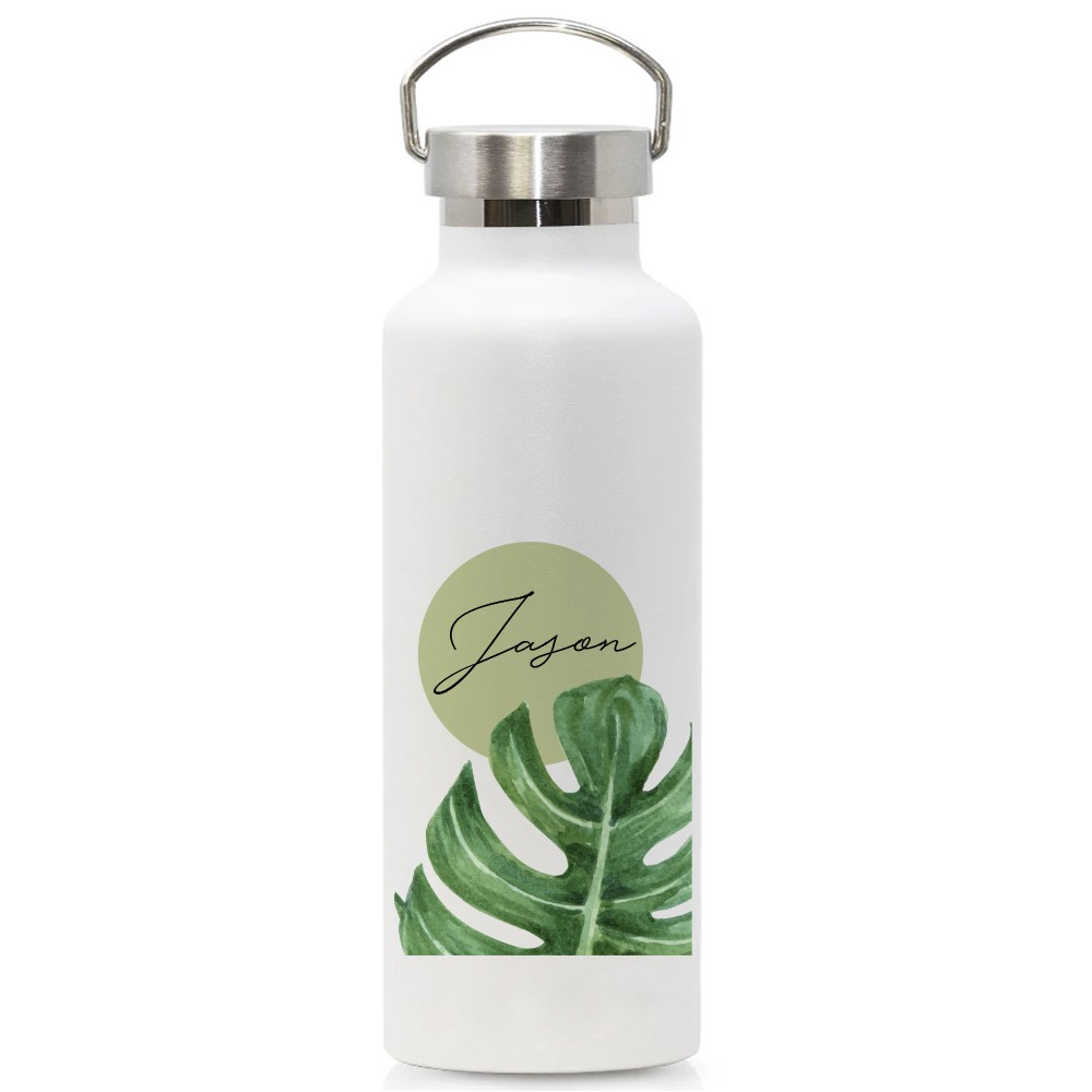 Custom Stainless Steel Vacuum Sealed Flask Tumbler Personalised Gift Teacher S Day Birthday Corporate Gift Palm Leaves D Shopee Singapore