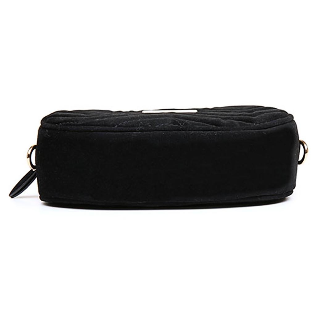 8c54c955d381 BST✿Women Velvet Waist Bag Chain Fanny Pack Travel Belt Purse ...