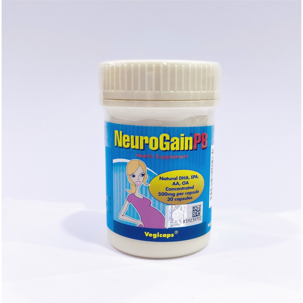 NeuroGain PB Vegicaps 30's for Pregnant and Breast-feeding women. DHA high, EPA low with AA and OA