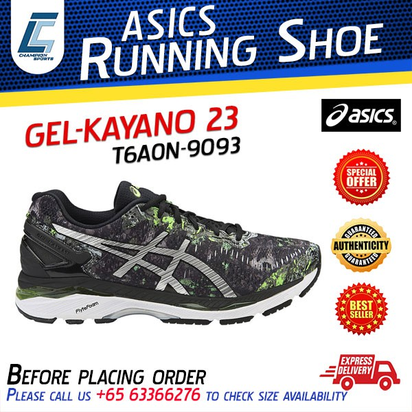 premium selection 33796 a384f ASICS Running Shoes GEL-KAYANO 23 T6A0N-9093