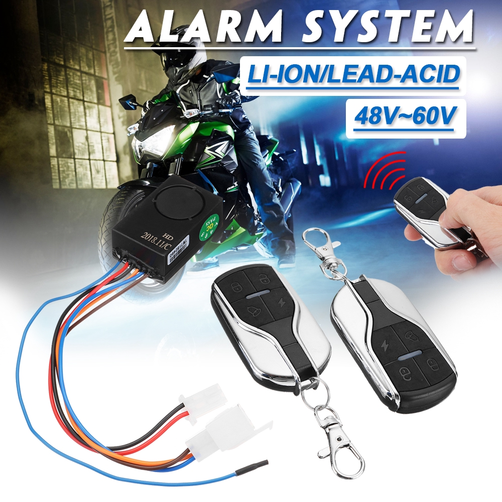 113dB Wireless Bike Motorcycle Alarm Security Anti Theft Waterproof with Remote