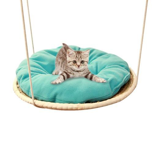Pet Products Pet Durable Cat Hanging Beds Chairs Pets Hammock Detachable Washable Balcony Kitten Swing Bedspread