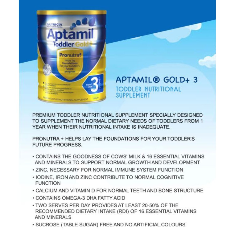 Aptamil Gold+ Premium Milk Formula / Imported from New Zealand