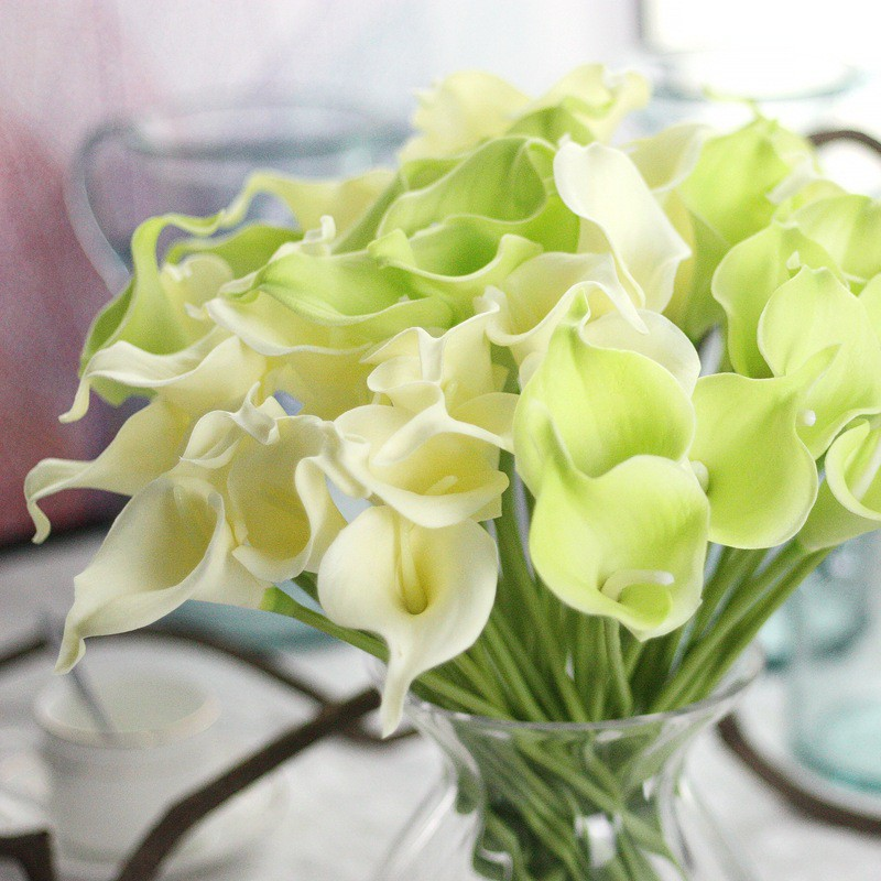 13 Colors Calla Lily Pu Real Touch Artificial Flower Bridal Wedding Bouquet Party Decor 1 Pc Shopee Singapore