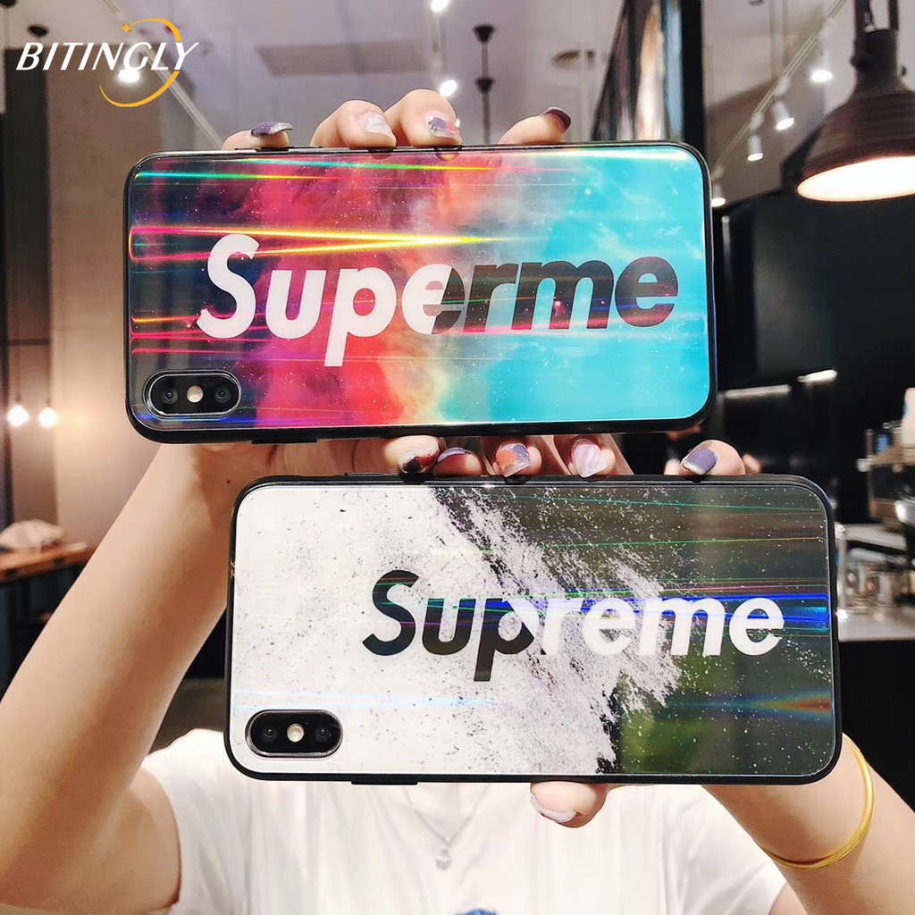 Caler Cover Compatible with Samsung Galaxy A10 Protective Case in Tempered Glass 9H 【Scratch-Resistant】 Bumper Frame in TPU Soft Silicone 【Shockproof】3D Design Vogue Ultra Chic