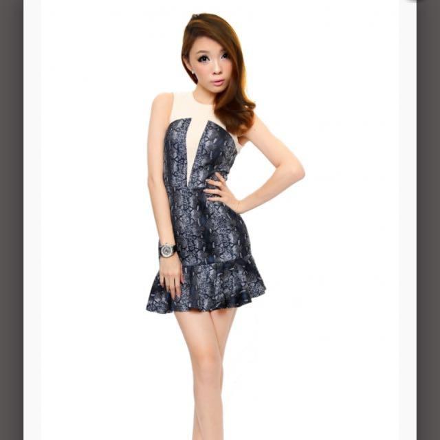 2f2651df180 Lara J blogshop Peplum mermaid dress