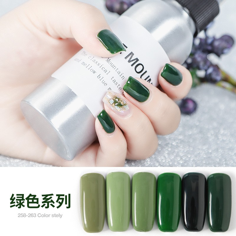 02sg Hot Sale New Green Nail Polish Gum Green Olive Green Phototherapy Gel For