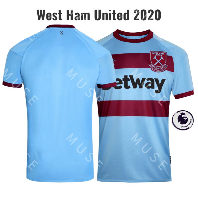 West Ham United 2020 Away Football Shirt 2021 Men's ...