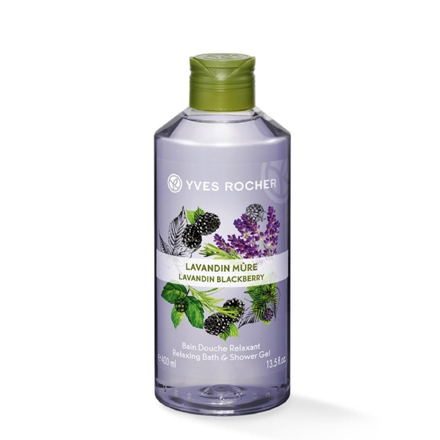 Yves Rocher Relaxing Lavandin Blackberry Bath Shower Gel 400ml