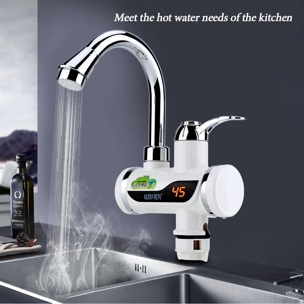 Wall Mounted Ivory White Model Ac 220v 16a 3000w Instant Water Heater Kitchen Bathroom Electrical Hot Water Faucet Sanitary Ware Suite Bathroom Fixtures