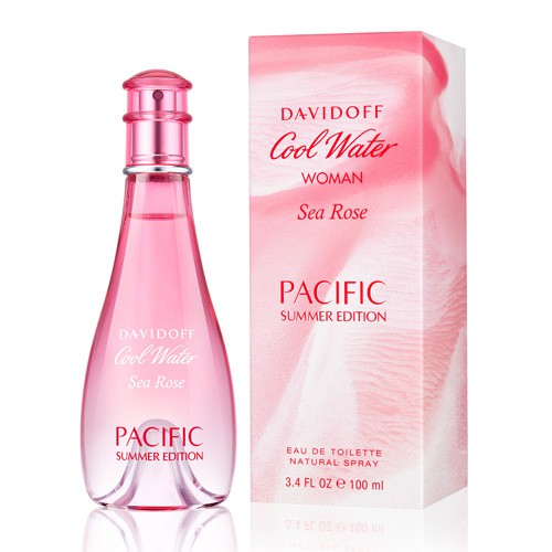 7ae217a81725 DAVIDOFF COOL WATER SEA ROSE PACIFIC SUMMER EDITION EDT FOR WOMEN (100ml)  Pink   Shopee Singapore