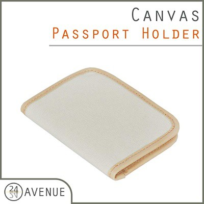 890271130782 Canvas Passport Holder / Travel Organizer