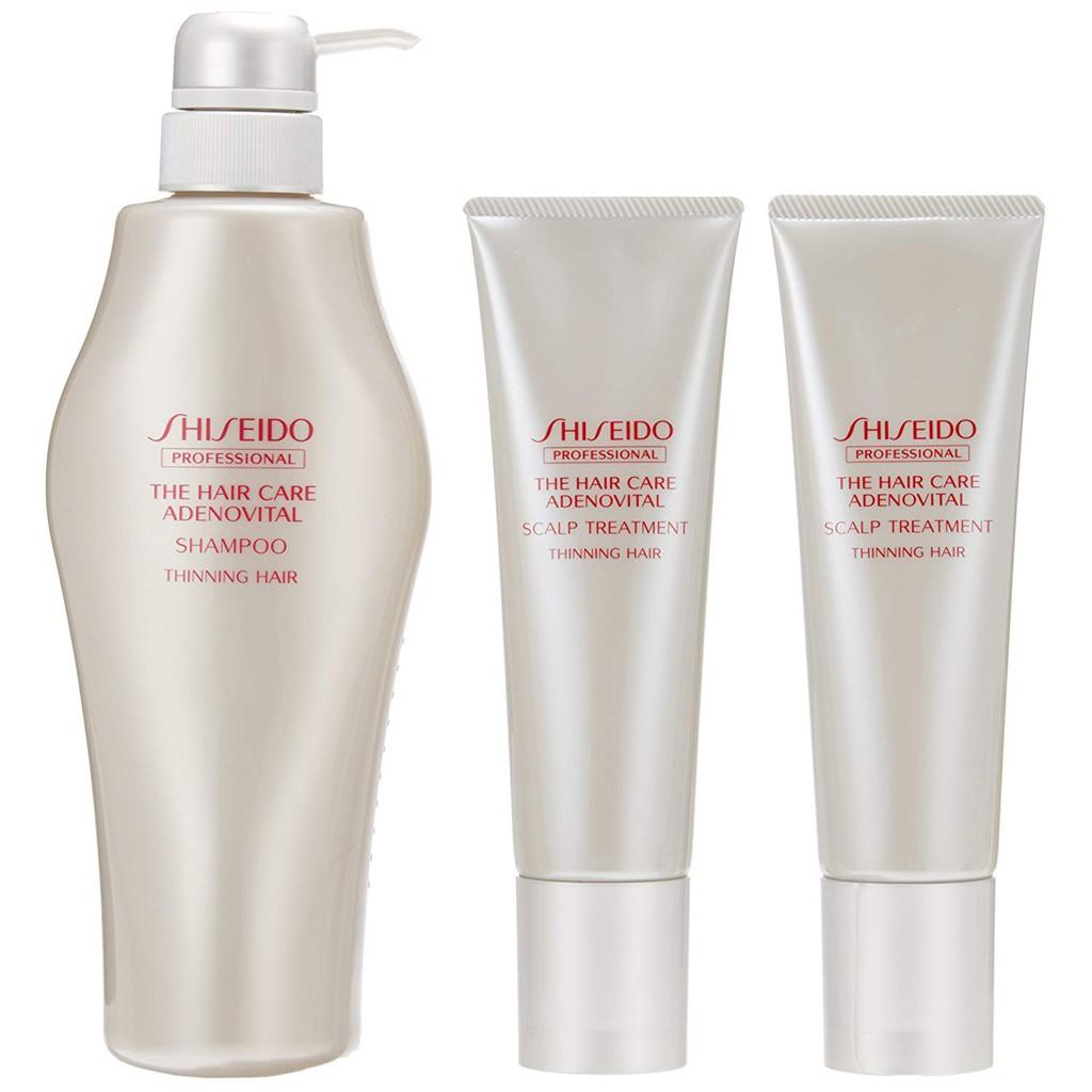 Shiseido Adenovital Shampoo 500ml + Scalp Treatment (130g x 2 sets) Japan  import