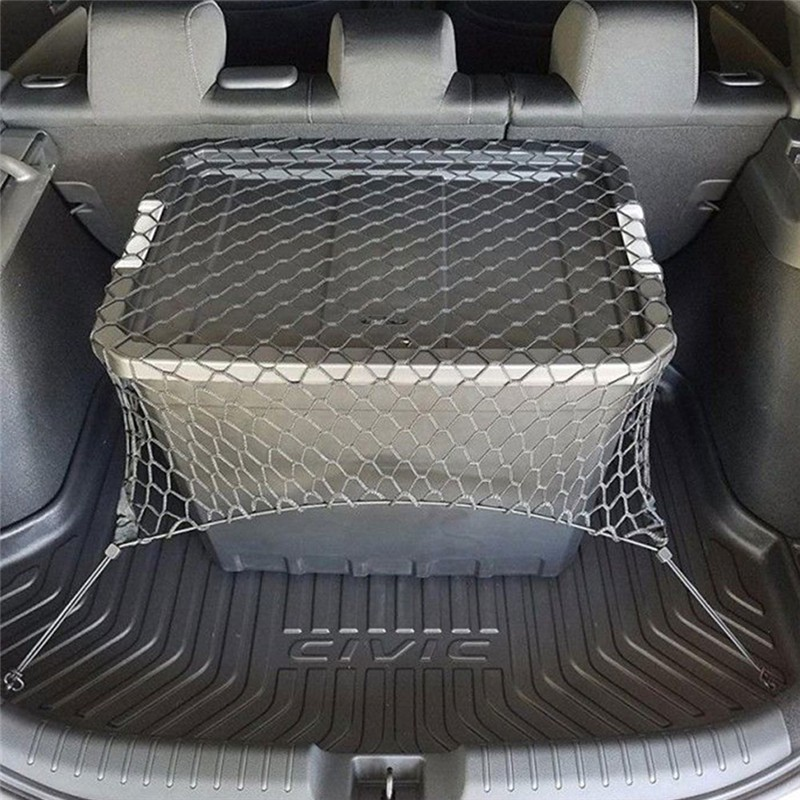 Durable Car SUV Rear Trunk Boot Floor Cargo Net Elastic Mesh Storage Fixed Set