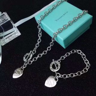 Stainless steel Chain Tiffany Bracelets and Necklace