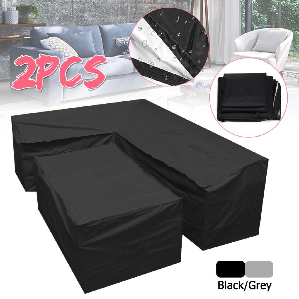 Waterproof Garden Rattan Corner Furniture Cover Outdoor Sofa Protect L Shape DC Garden & Patio Furniture Garden & Patio