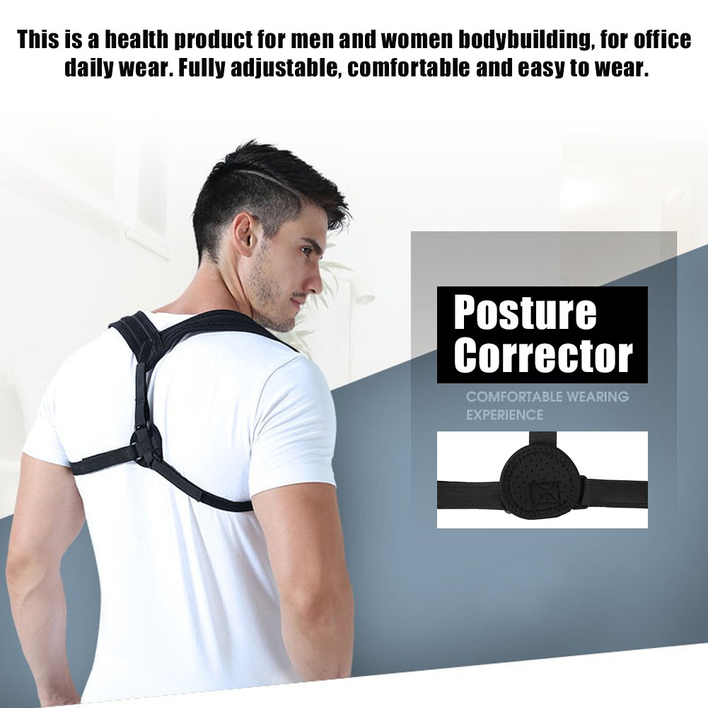 2fc5f8d9b3aff Chest Support Belt Posture Corrector Brace X Type M Size Back Shoulder Vest