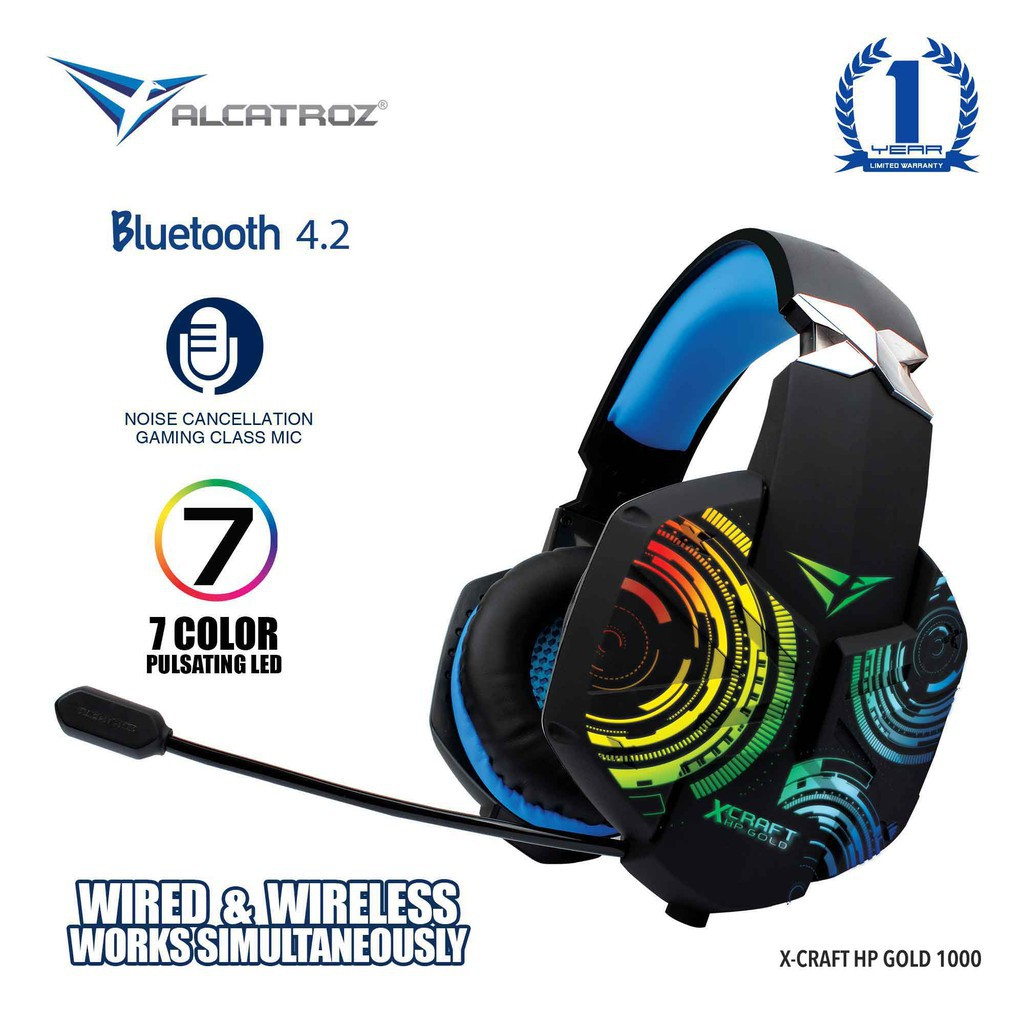 Alcatroz X Craft Hp Gold Bluetooth Gaming Headphones With Mic For Smartphones Shopee Singapore