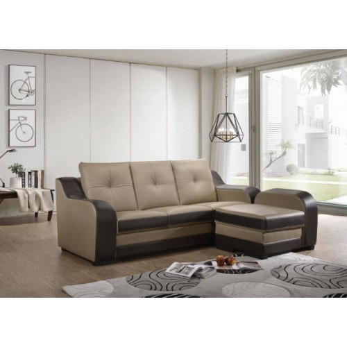 Wesley L-Shape Leather Sofa/Lounge Chair/Relax Sofa/Relax Chair/ Leather  Sofa