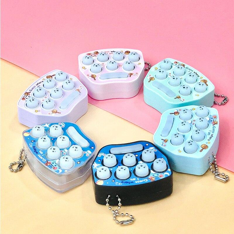 Cartoon Key Chain Custom Bag Accessories Key Ring Small Gift Creative Birthday Gifts  Jewelry  Key Ring Whac-a-Mole Toys